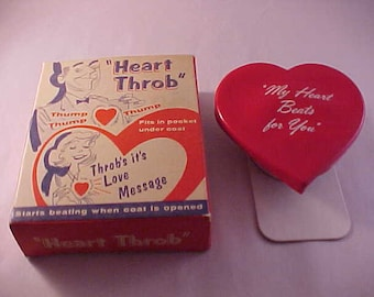 1958 Heart Throb Novelty Gift Gag Gift With Original Illustrated Box