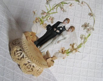 Vintage 1930s Wedding Cake Topper, As-Is