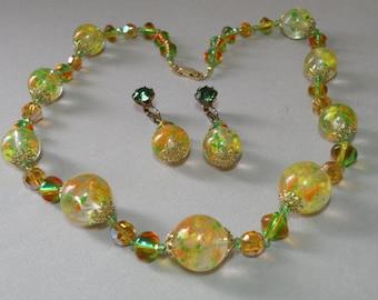 Italian Bead Necklace & Earring Set