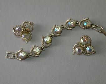 Vintage Kramer Bracelet & Earrings Set