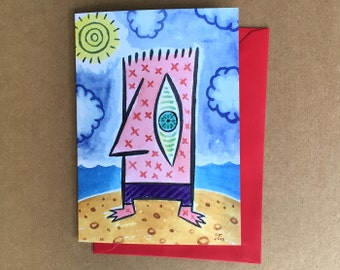 Greeting Card - Beach Dude (FREE DOMESTIC SHIPPING)