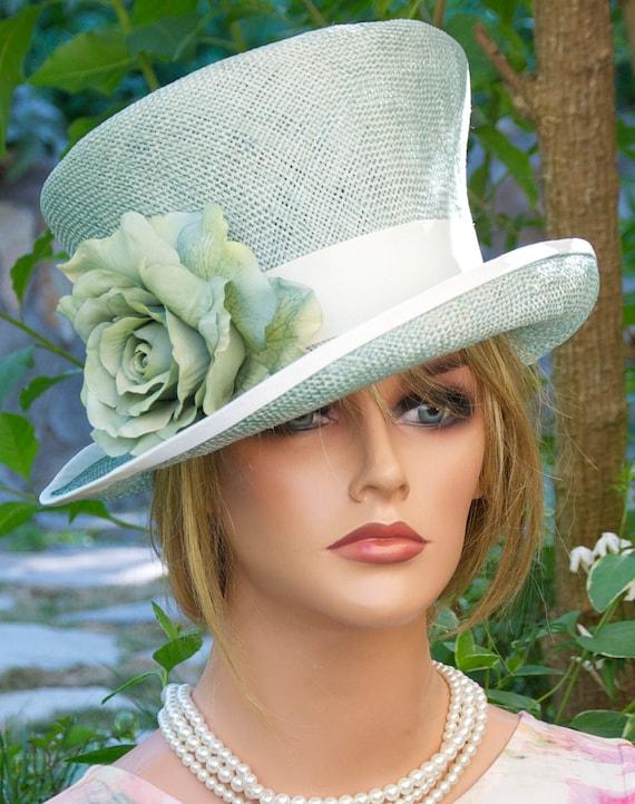 Wedding Hat, Derby Hat, Church Hat, Aqua Turquoise Hat, Formal Hat, Kentucky Derby Hat