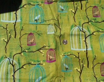 Hanging Cages by Laura Gunn for Michael Miller Fabrics OOP