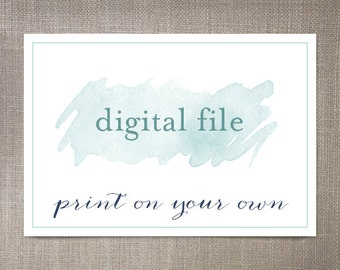 Digital file, Print On Your Own