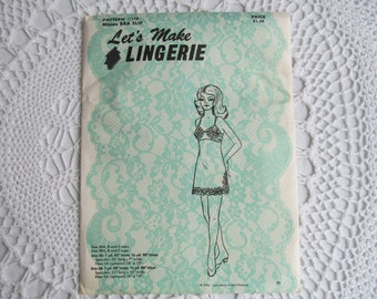 Womens Sewing Pattern Misses Bra Slip Lets Make Lingerie Size 36 A B C Cup 38 A B C Cup Pattern 198