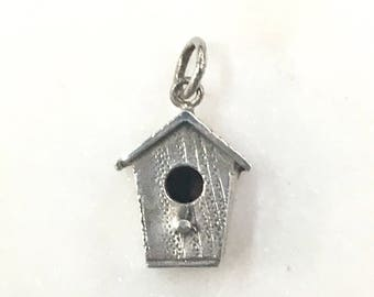 Quaint Birdhouse Sterling Silver Vintage Charm