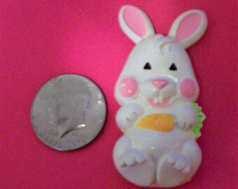 Vintage 1973 Avon Easter Bunny Pin Can be worn as a necklace or Pin Great for Little Girl, Teacher, Nurse, or Day Care