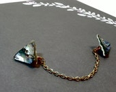 Mother of Pearl Triangle Collar Clip