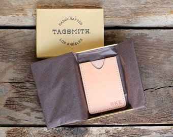 Personalized Wallet, Personalized Card Holder, Personalized Mens Wallet, Personalized Womens Wallet, Leather Wallet by Tagsmith