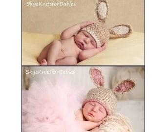 Bunny Hat, Newborn Bunny Hat, Newborn Boy Bunny Hat, Baby Girl Easter Hat, Baby Hat, Easter Bunny Hat, Baby Rabbit Hat, Baby Bunny Beanie