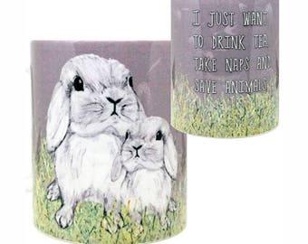 Save Animals Bunny Mug by Pithitude