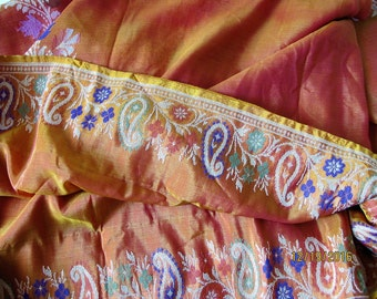 Sari fabric vintage