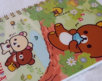 NOTEBOOK diary journal schedule book ~ RILAKKUMA and KOGUMACHAN ~ undated agenda pocket planner Illustrated on every page! High Quality