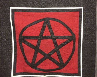 Pentagram Throw Quilt