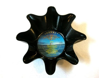 Journey Band Record Bowl Made From Repurposed Vinyl Album