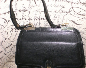 Sacha handbag,made in Spain,black, leather, structured
