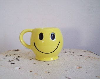 Vintage McCoy Smiley Face mug birthday get well gift don't worry be happy