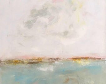 Abstract seascape original painting - Dreamy Sea 22 x 28