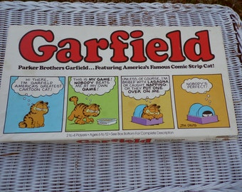 Garfield vintage 1981 board game Parker Brothers Garfield the Orange Cat almost complete missing only 1 game piece family game night