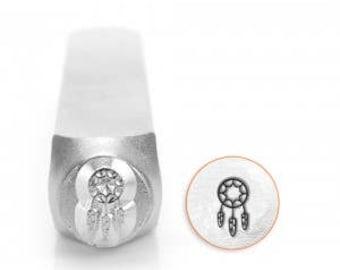Dream Catcher Stamp -Steel Stamp -   IMPRESSART -  6mm -  Design Stamp   - Detail hand stamping -Metal stamps - animal stamps - Pet stamps