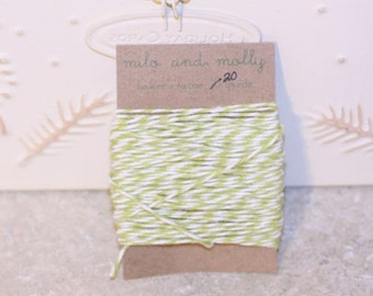 Light Green Bakers Twine for Crafting or Decorating 20 yds Wedding Scrapbook