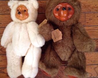 Vintage 1980's Raikes Bears Set Applause