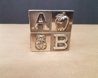 Metal ABC Block Bank