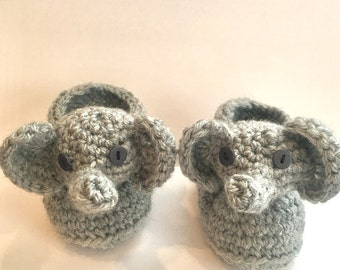Crochet Pattern- baby, elephant, Captain, America, slipper, bootie, shoe, child