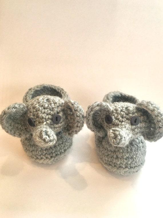 Crochet Pattern baby elephant Captain America slipper