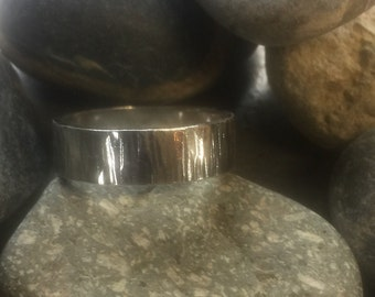 Sterling textured ring
