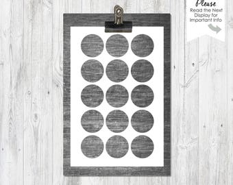 One Inch Circles | 4x6 inch | Collage Sheet | Template | Bottle Cap | PNG | Instant Download