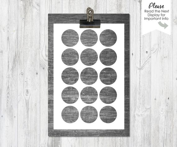 one inch circles 4x6 inch collage sheet template. Black Bedroom Furniture Sets. Home Design Ideas