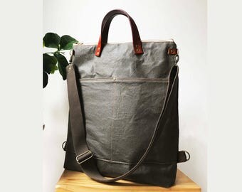 2way tote bag backpack bag with canvas strap/travel bag /diaper bag /Laptop bags/shoulder bag /Handbag/unisex bag /luggage bag