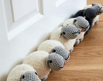Sheep draught excluder/doorstop amigurumi crochet pdf pattern