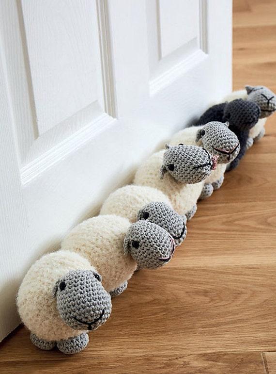 Sheep Draught Excluder Doorstop Amigurumi Crochet Pdf Pattern