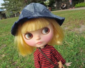 La-Princesa Denim HAT for Blythe