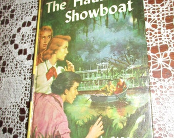 REDUCED Vtg 1957 Nancy Drew #35 The Haunted Showboat Hardcover Book, Carolyn Keene, VGC