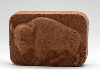 Bison/Buffalo Bath Bomb - bath fizzy, bath fizzies, party favor, north american animals, native american, zoo animals, herd, for men