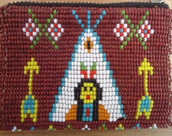 Vintage Beaded Indian Coin Purse