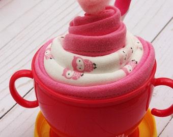 Baby sundae, Baby shower gift idea, Gift for baby girl, baby girl gift idea, baby shower game prize, baby shower favor, toddler gift idea