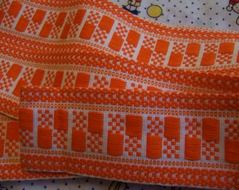 lovely orange woven trim