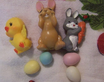 miniature easter critter decorations
