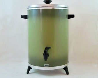 Mid Century West Bend 30-Cup Coffee Maker - Urn - Avocado Green