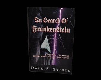 Vintage Paperback. In Search of Frankenstein. Myths. Mary Shelley. Monster. Radu Florescu. Book. Black. Gothic.