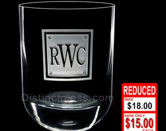 Gifts for Groomsmen - Personalized Monogram Scotch Whiskey Glasses - 12.25oz Etched Glass - Ships to Canada