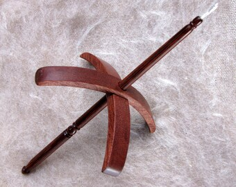 Mid-whorl Turkish spindle made in a choice of woods and Dymondwood medium size/light weight MADE TO ORDER