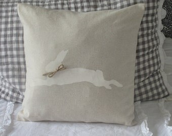 Rustic Bunny  Pillow Cover