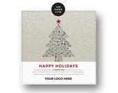 Custom Food Bank Donation Digital Holiday eCard or printable for companies that want to give back this Christmas season.