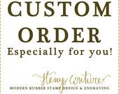 Custom Order for Deanna: handmade with love/ Foldable Memories Shop stamp