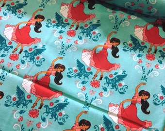 Disney Elena of Avalor - Dance Fabric - Blue